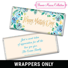 Bonnie Marcus Collection Mother's Day Personalized Chocolate Bar Wrappers Chocolate & Wrapper Here's Something Blue Mother's Day Favors
