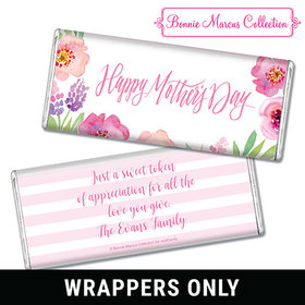 Bonnie Marcus Collection Mother's Day Personalized Chocolate Bar Wrappers Chocolate & Wrapper Floral Embrace Mother's Day Favors