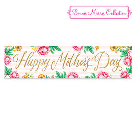 Bonnie Marcus Pink Flowers Mother's Day Banner
