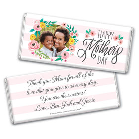 Personalized Bonnie Marcus Mother's Day Floral Embrace Chocolate Bar & Wrapper