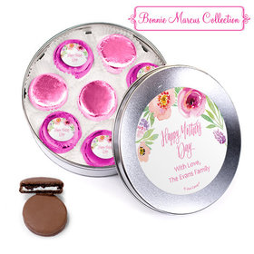 Bonnie Marcus Collection Personalized Mother's Day Blue Tin with 16 Chocolate Covered Oreo Cookies