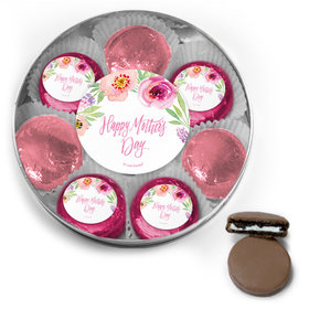 Bonnie Marcus Collection Mother's Day Belgian Chocolate Covered Oreo Cookies Large Silver Plastic Tin