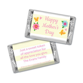 Personalized Bonnie Marcus Collection Mother's Day Hershey's Miniatures Wrappers Spring Flowers