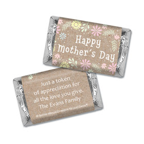 Personalized Bonnie Marcus Collection Mother's Day Hershey's Miniatures Wrappers Pastel Flowers