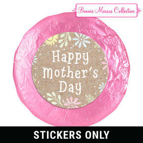 """Bonnie Marcus Collection Mother's Day Pastel Flowers 1.25"""" Stickers (48 Stickers)"""