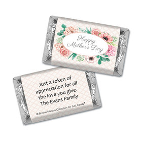 Personalized Bonnie Marcus Collection Mother's Day Hershey's Miniatures Wrappers Painted Flowers