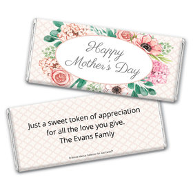 Personalized Bonnie Marcus Collection Mother's Day Painted Flowers Chocolate Bar