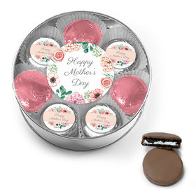 Bonnie Marcus Collection Mother's Day Chocolate Covered Oreo Cookies XL Silver Plastic Tin