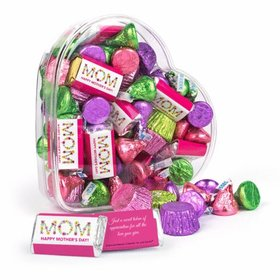 Bonnie Marcus Happy Mother's Day Clear Heart Box with Hershey's Mix