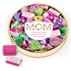 Personalized Mother's Day Large Plastic Tin Hershey's & Reese's Mix