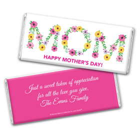 Personalized Bonnie Marcus Mother's Day Mom in Flowers Chocolate Bar Wrappers Only
