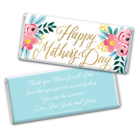 Personalized Bonnie Marcus Mother's Day Floral Chocolate Bar Wrappers Only