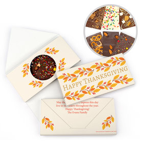 Personalized Bonnie Marcus Thanksgiving Giving Thanks Gourmet Infused Belgian Chocolate Bars (3.5oz)