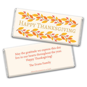 Personalized Bonnie Marcus Thanksgiving Giving Thanks Chocolate Bar & Wrapper