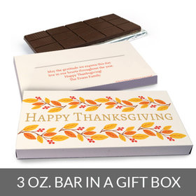 Deluxe Personalized Bonnie Marcus Giving Thanks Thanksgiving Chocolate Bar in Gift Box