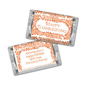 Personalized Bonnie Marcus Thanksgiving Leaves Hershey's Miniatures