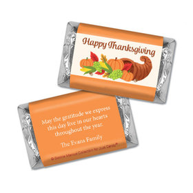 Personalized Bonnie Marcus Thanksgiving Cornucopia Hershey's Miniatures