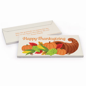 Deluxe Personalized Bonnie Marcus Cornucopia Thanksgiving Chocolate Bar in Gift Box