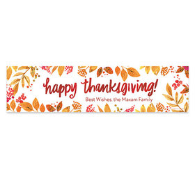 Personalized Bonnie Marcus Thanksgiving Fall Foliage 5 Ft. Banner