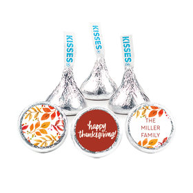 """Personalized Bonnie Marcus Thanksgiving Fall Foliage 3/4"""" Stickers (108 Stickers)"""