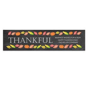 Personalized Bonnie Marcus Thanksgiving Thankful Chalkboard Banner