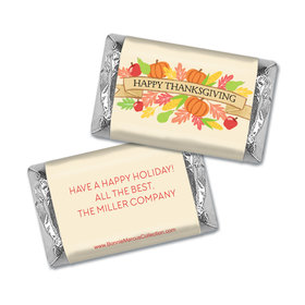 Personalized Bonnie Marcus Thanksgiving Happy Harvest Hershey's Miniatures