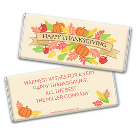 Personalized Bonnie Marcus Thanksgiving Happy Harvest Chocolate Bar & Wrapper
