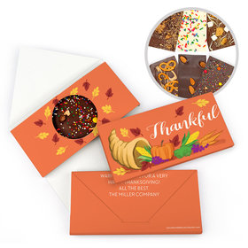Personalized Bonnie Marcus Thanksgiving Bountiful Thanks Gourmet Infused Chocolate Bars (3.5oz)