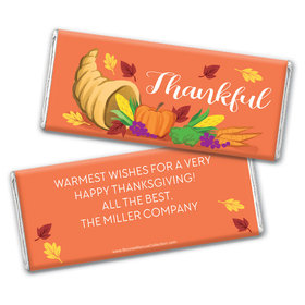 Personalized Bonnie Marcus Thanksgiving Bountiful Thanks Chocolate Bar Wrappers