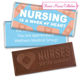Personalized Bonnie Marcus Collection Nurse Appreciation Hearts Embossed Nurse Chocolate Bar