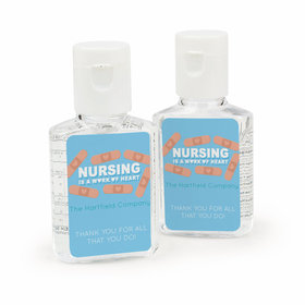 Personalized Bonnie Marcus Nurse Appreciation Heart Bandage Hand Sanitizer
