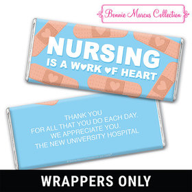 Personalized Bonnie Marcus Collection Nurse Appreciation Hearts Chocolate Bar Wrappers