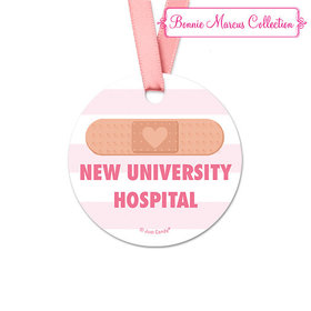 Personalized Bonnie Marcus Collection Round Stripes Nurse Appreciation Favor Gift Tags (20 Pack)