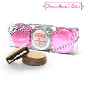 Bonnie Marcus Collection Nurse Appreciation Stripes 3PK Belgian Chocolate Covered Oreo Cookies