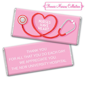 Personalized Bonnie Marcus Collection Nurse Appreciation Stethoscope Chocolate Bar & Wrapper