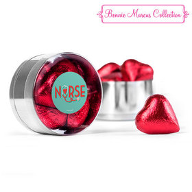 Nurse Appreciation Heart Stethoscope Chocolate Hearts Small Plastic Tin