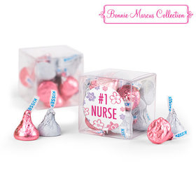 Bonnie Marcus Collection Nurse Appreciation Flowers Clear Gift Box with Sticker