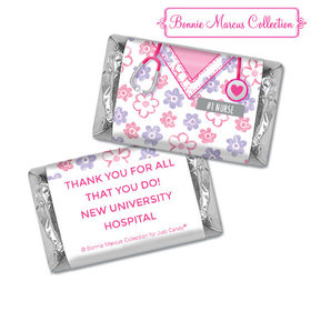 Personalized Bonnie Marcus Collection Nurse Appreciation Flowers Hershey's Miniatures