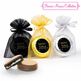 Bonnie Marcus New Year's Eve Party & Prosper Chocolate Covered Oreo Cookies in Organza Bags - Set of 6