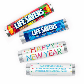 Personalized Bonnie Marcus New Year's Eve Dazzling Dots Lifesavers Rolls (20 Rolls)