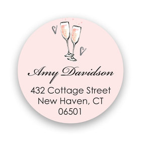 Bonnie Marcus Collection Personalized The Bubbly Return Address Sticker