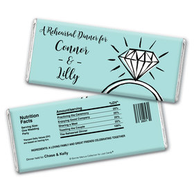 Bonnie Marcus Collection Personalized Chocolate Bar Wrappers Chocolate and Wrapper Last Fling Rehearsal Dinner Favor