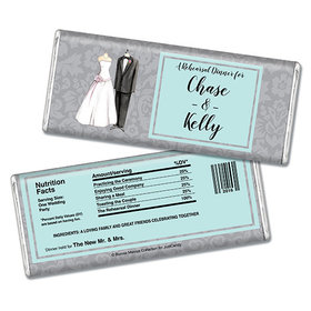 Bonnie Marcus Collection Personalized Chocolate Bar Forever Together Rehearsal Dinner Chocolate and Wrapper
