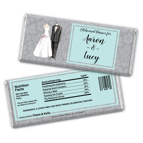 Bonnie Marcus Collection Personalized Chocolate Bar Wrappers Forever Together Rehearsal Dinner Chocolate and Wrapper