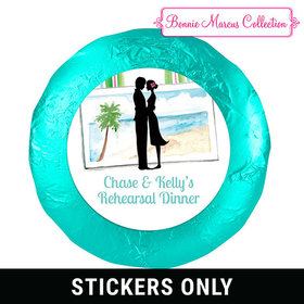 "Bonnie Marcus Collection Rehearsal Dinner Tropical I Do 1.25"" Stickers (48 Stickers)"