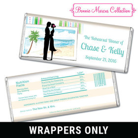 Bonnie Marcus Collection Personalized Chocolate Bar Wrappers Chocolate and Wrapper Tropical I Do Rehearsal Dinner Favors