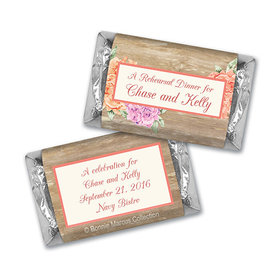 Bonnie Marcus Collection Chocolate Candy Bar and Wrapper Blooming Joy Rehearsal Dinner Favor