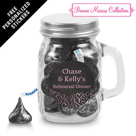 Bonnie Marcus Collection Personalized Mini Mason Jar Sweetheart Swirl Rehearsal Dinner (12 Pack)
