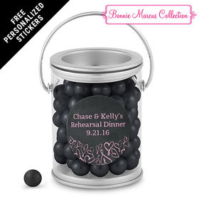 Bonnie Marcus Collection Personalized Paint Can Sweetheart Swirl Rehearsal Dinner (25 Pack)