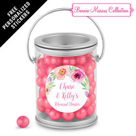Bonnie Marcus Collection Personalized Paint Can Floral Embrace Rehearsal Dinner Favors (25 Pack)